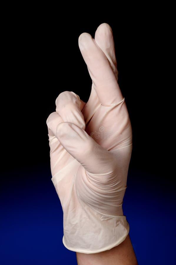 Profesión médica con su CRO (coordinadora) de los dedos imagen de archivo libre de regalías