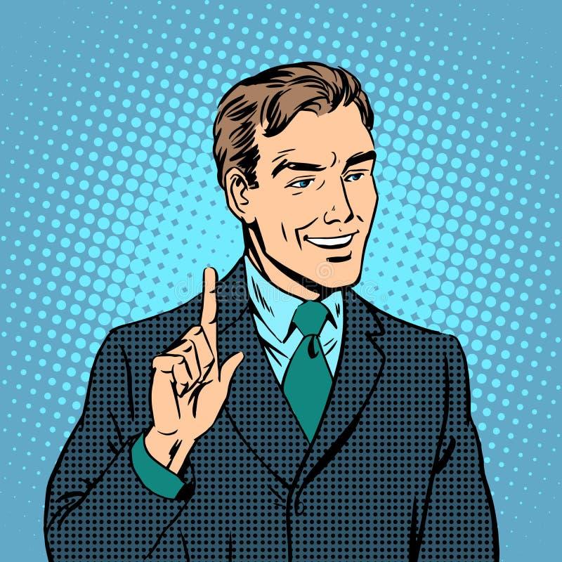 Profesional experto del profesor del hombre de negocios ilustración del vector
