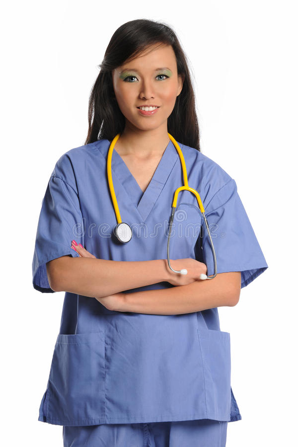 Profesional femenino del cuidado médico fotos de archivo