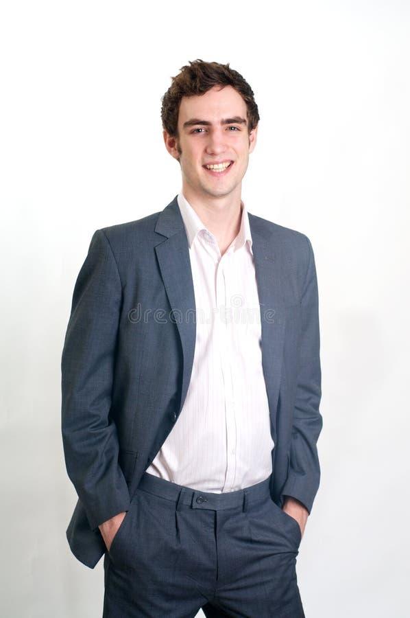 Profesional joven sonriente fotos de archivo
