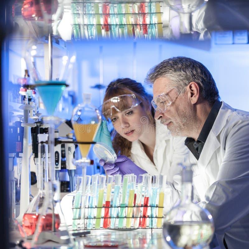 Profesionales de la atención sanitaria que investigan en laboratorio científico fotografía de archivo libre de regalías