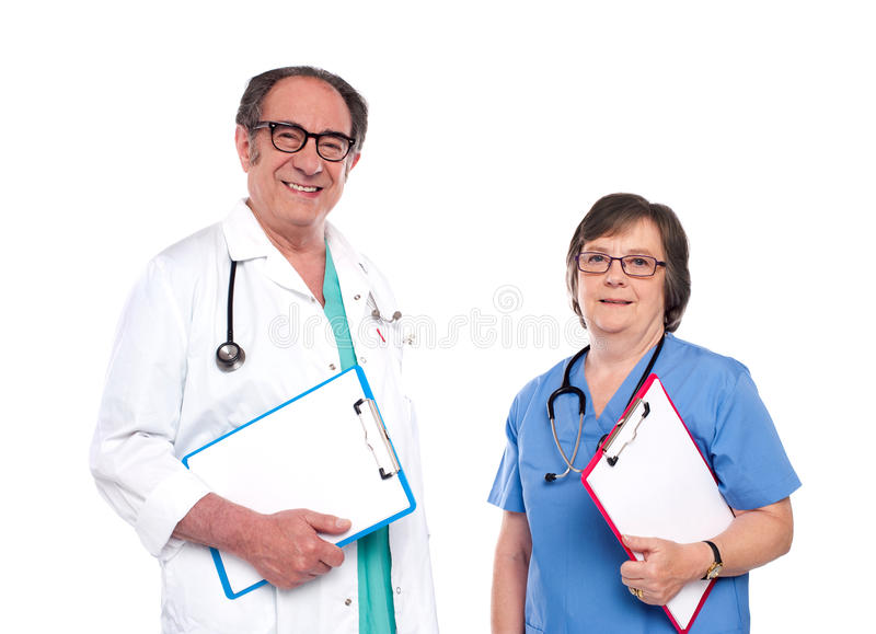 Profesionales sonrientes del cuidado médico fotos de archivo libres de regalías