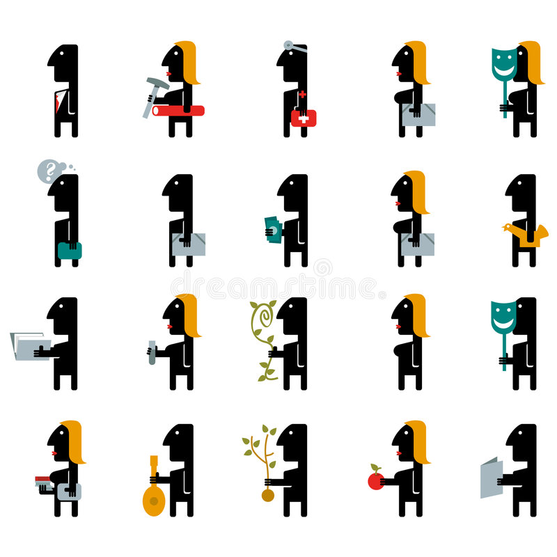 Profesiones ilustración del vector