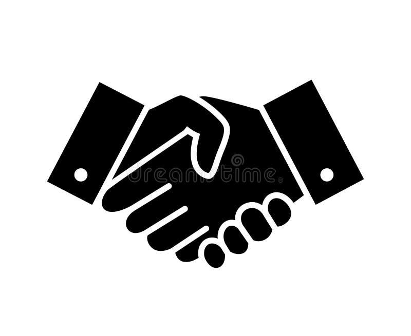 Profesjonalista mile widziany i szacuneku uścisku dłoni ikona royalty ilustracja