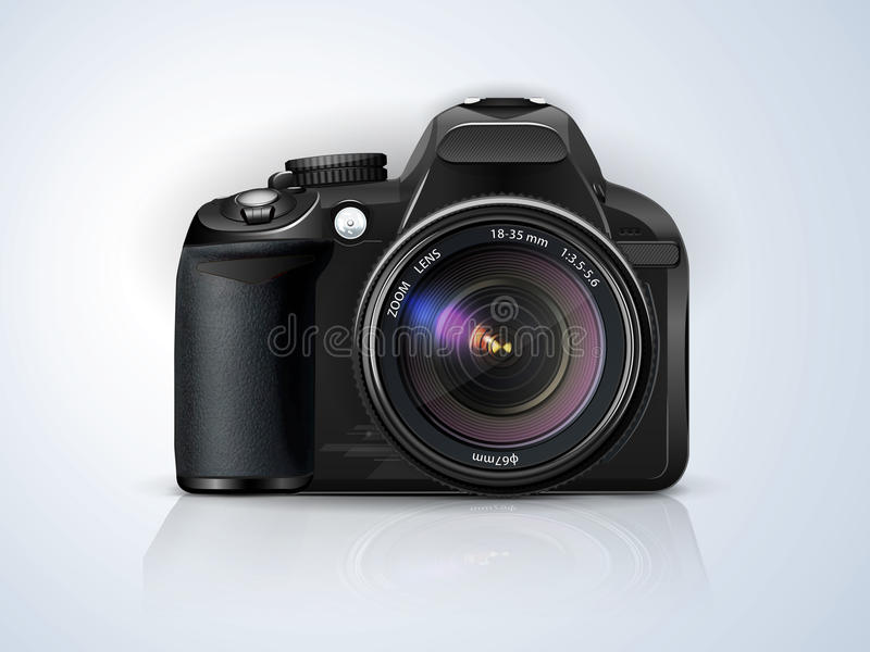 Profesjonalisty SLR kamera royalty ilustracja