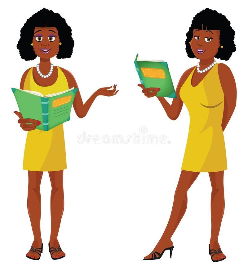 Profesor atractivo African libre illustration