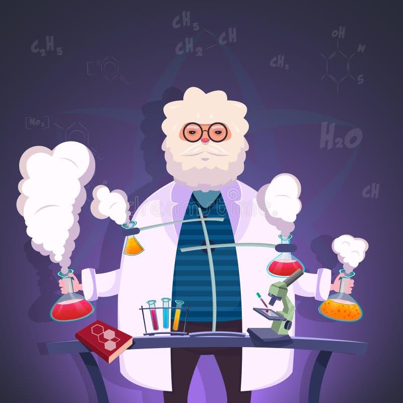 Profesor chemia plakat royalty ilustracja
