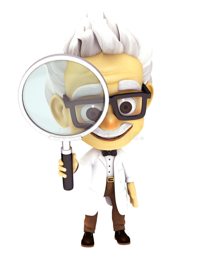 Profesor con la búsqueda imagen de archivo libre de regalías