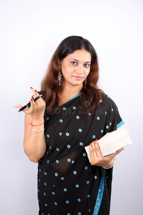 Profesor de escuela indio imágenes de archivo libres de regalías
