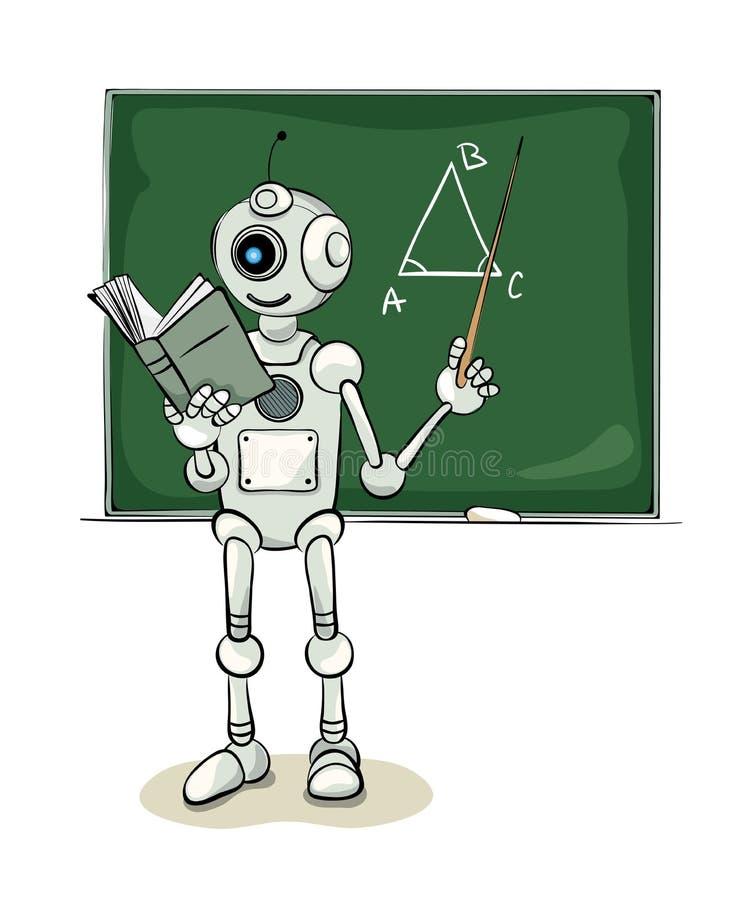 Profesor del robot ilustración del vector