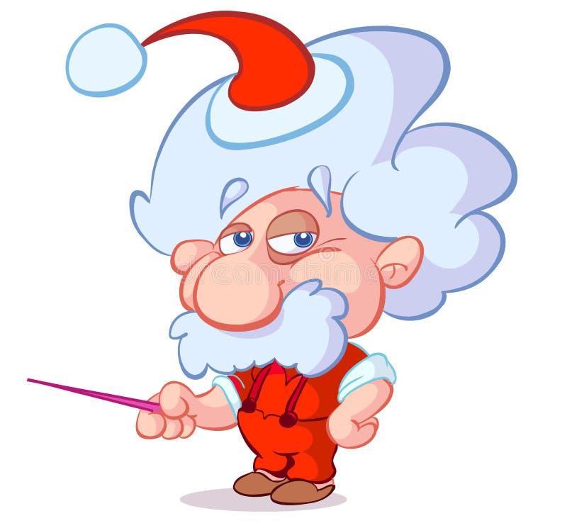 Profesor divertido de la ciencia de la Navidad libre illustration