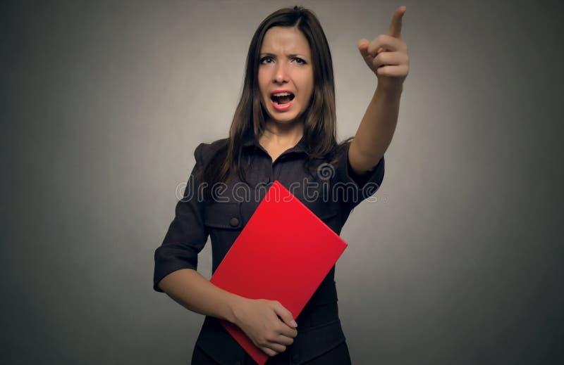 Profesor enojado Jefe travieso fotografía de archivo libre de regalías