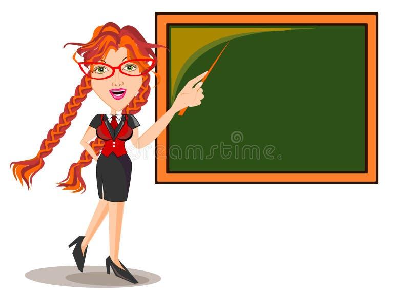 Profesor Female stock de ilustración