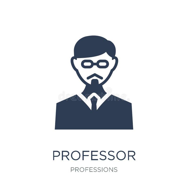 Profesor ikona Modna płaska wektorowa profesor ikona na białym backg ilustracja wektor