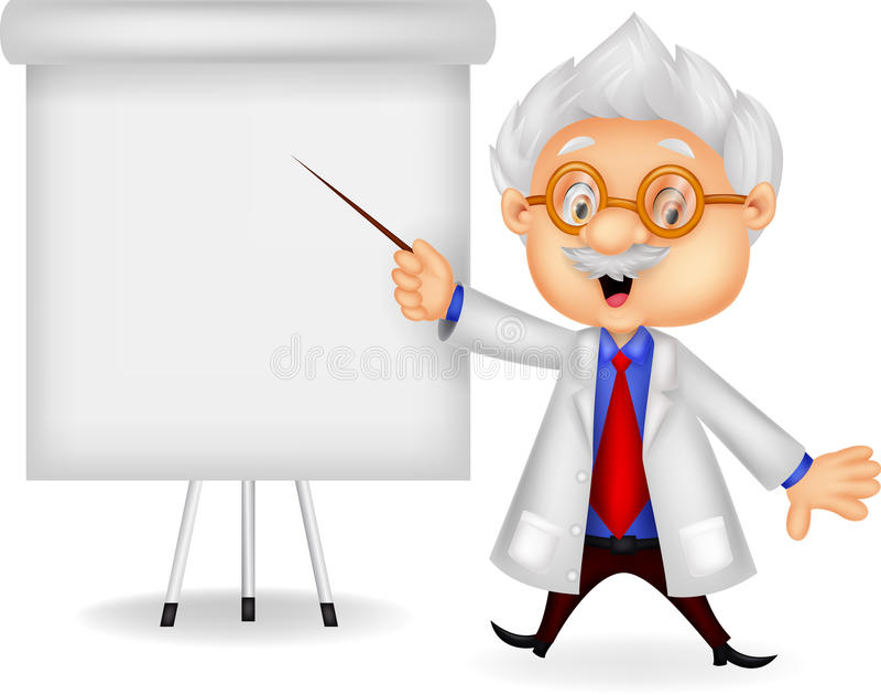Profesor kreskówki nauczanie royalty ilustracja