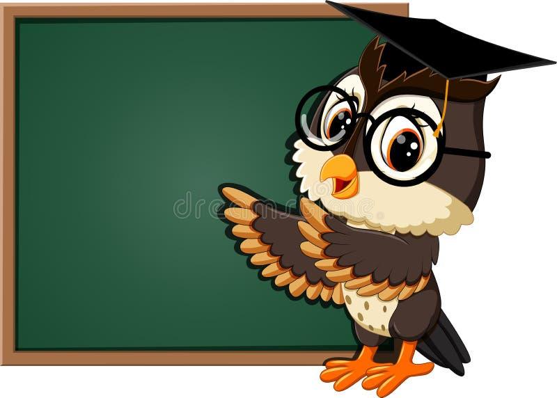 Profesor lindo del búho ilustración del vector