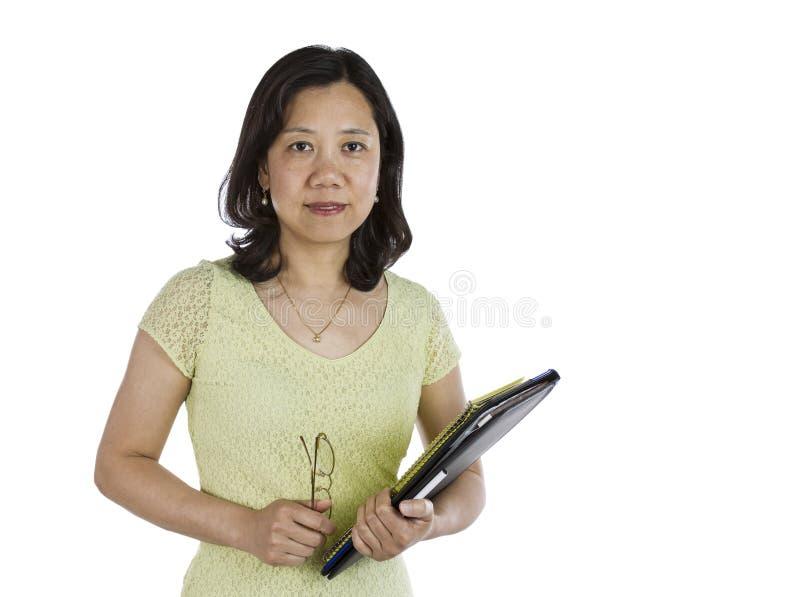 Profesor maduro de las mujeres imagen de archivo libre de regalías