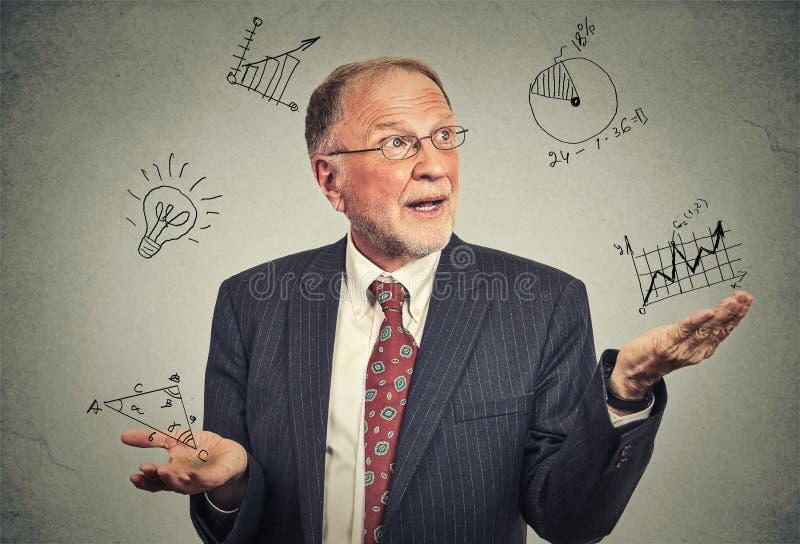 Profesor mayor imagen de archivo libre de regalías