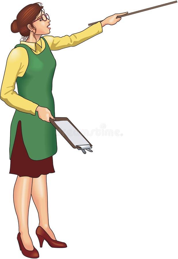 Profesor Pointing Vector Illustration ilustración del vector