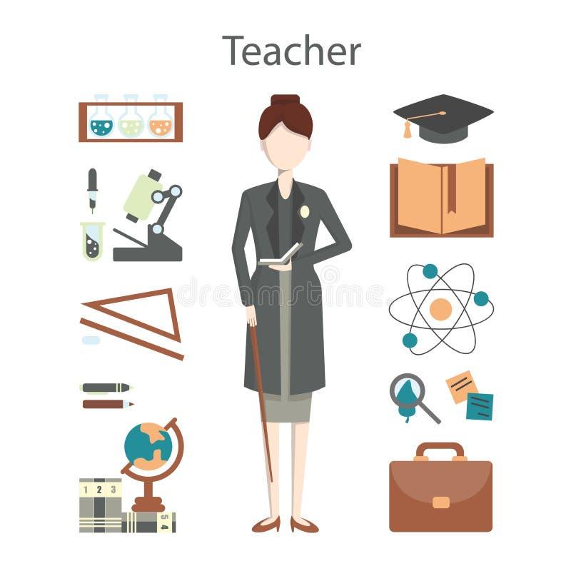 profesor profesional stock de ilustración