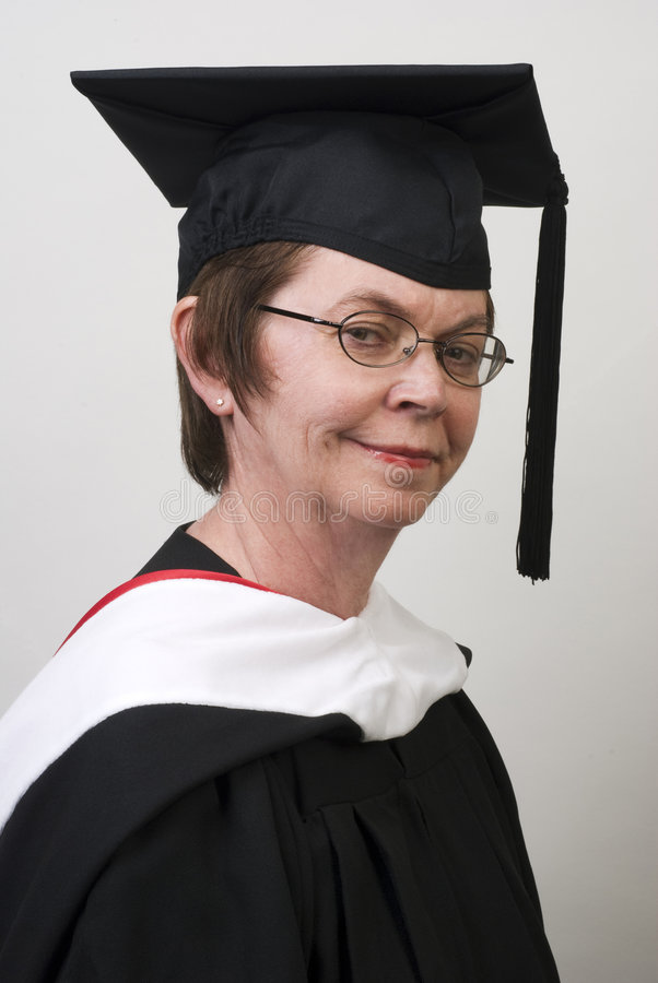 Profesor Ready para la graduación fotografía de archivo