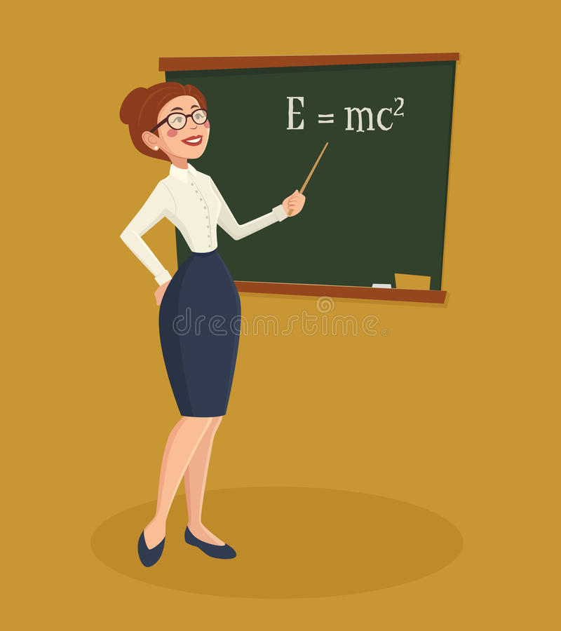Profesor Woman Illustration stock de ilustración