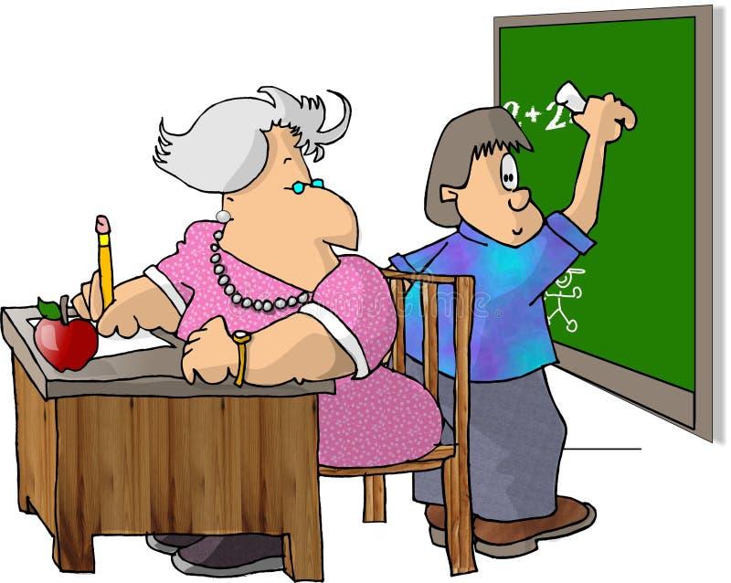 Profesor y estudiante ilustración del vector