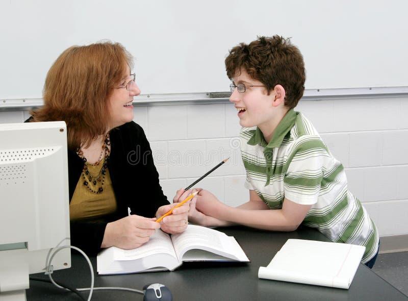 Profesor y estudiante fotografía de archivo