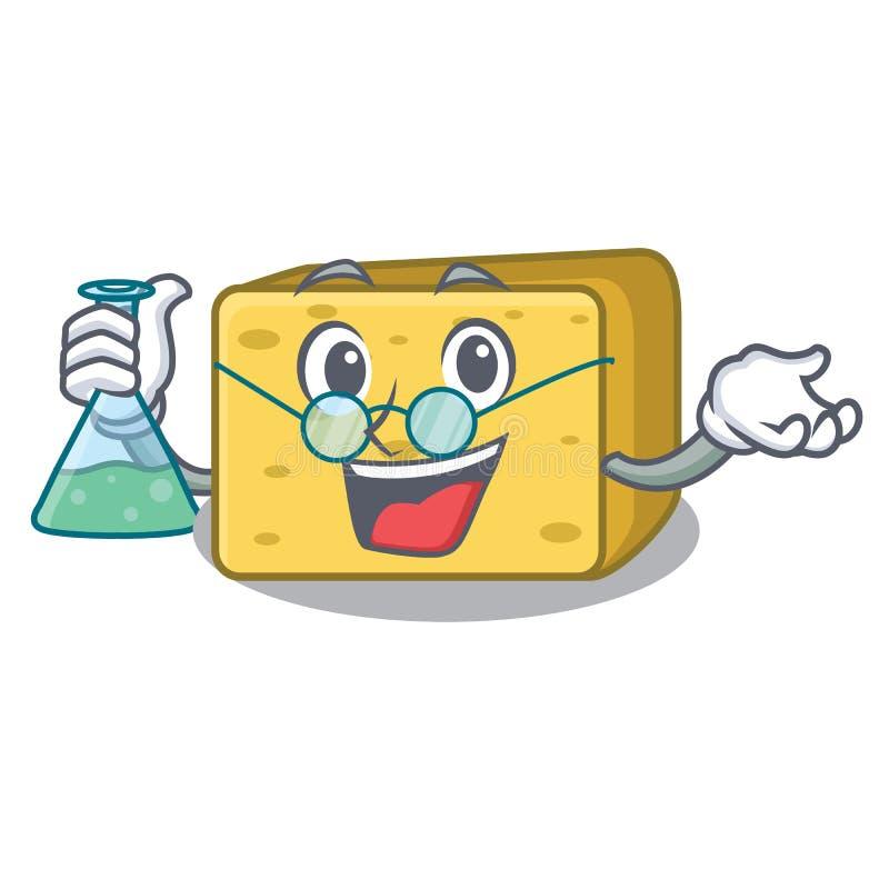 Profesora charakteru gouda świeży ser ilustracja wektor