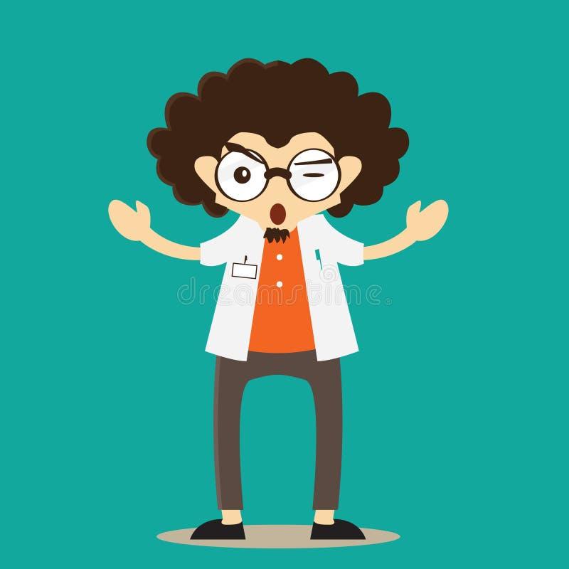 Profesora charakteru maskotki ilustracji