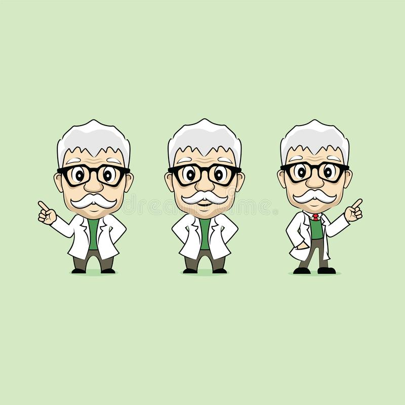 Profesora charakteru maskotki kreskówki wektor royalty ilustracja