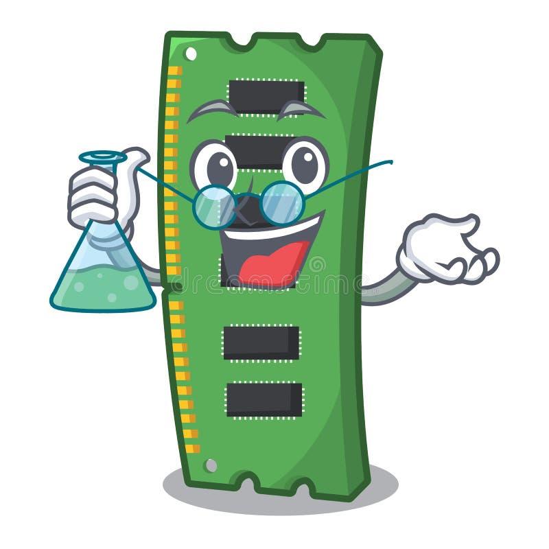 Profesora RAM karta pamięci maskotka kształt royalty ilustracja