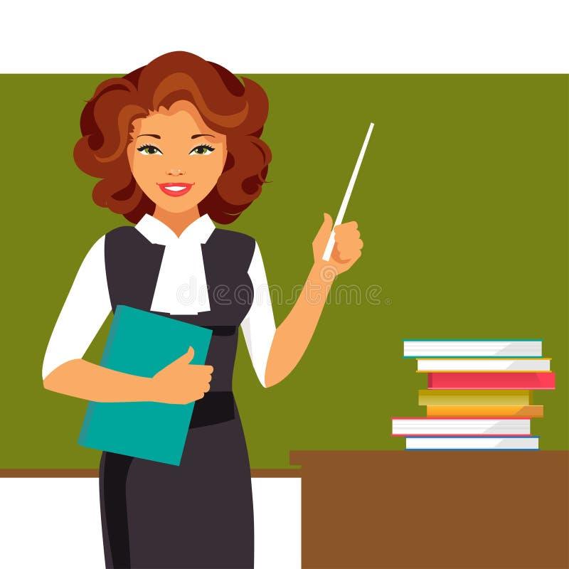 Professeur au tableau noir illustration de vecteur