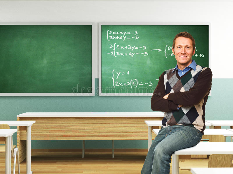 Professeur confiant photo stock