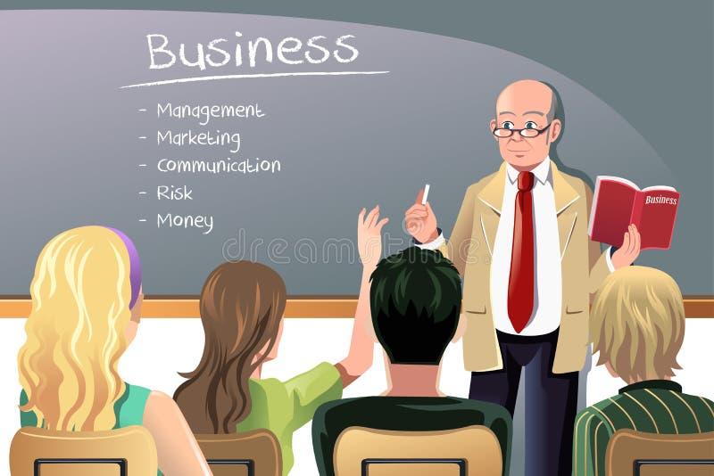 Professeur d'affaires illustration de vecteur