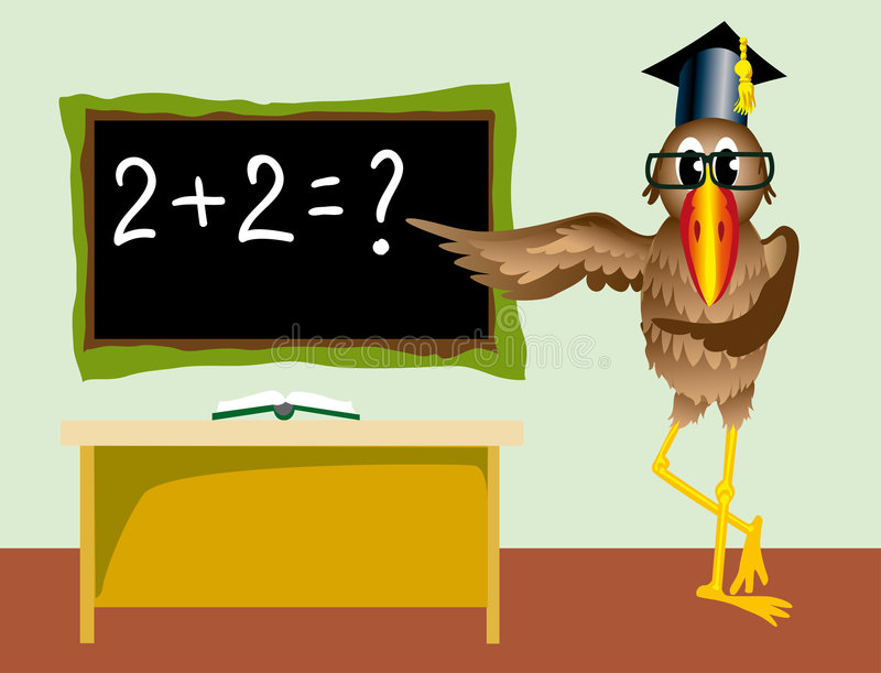 Professeur dans l'école animale illustration de vecteur