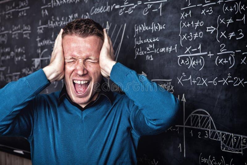 Professeur de Desperated images stock