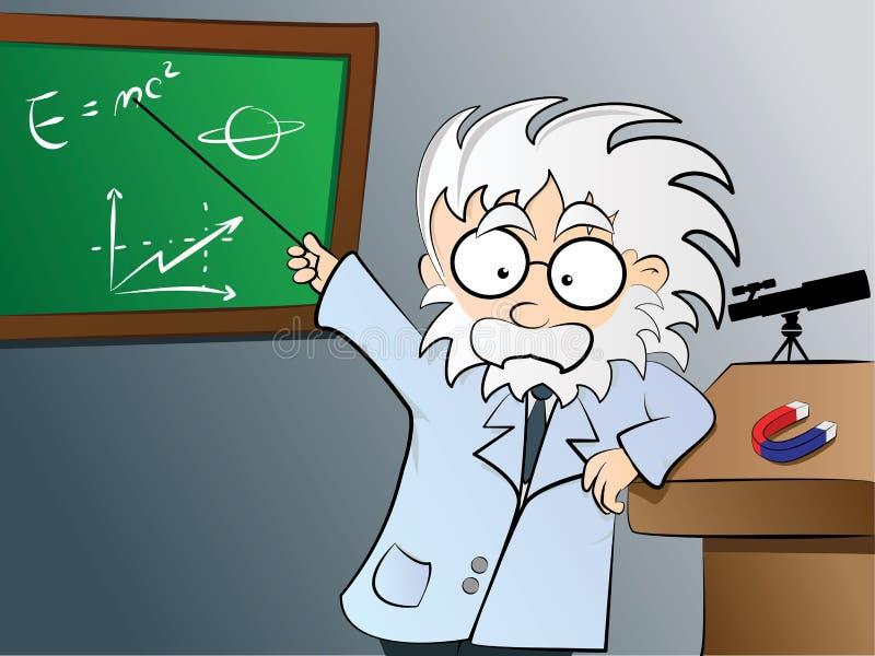 Professeur de physique dans la classe illustration libre de droits