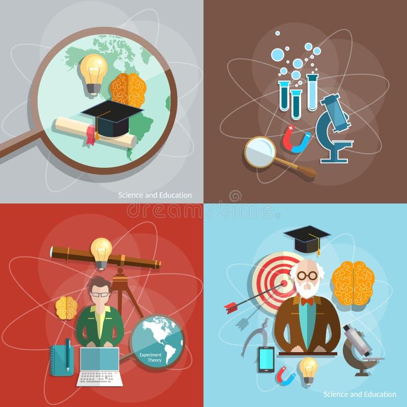 Professeur de professeur de formation à distance de la Science et d'éducation illustration stock