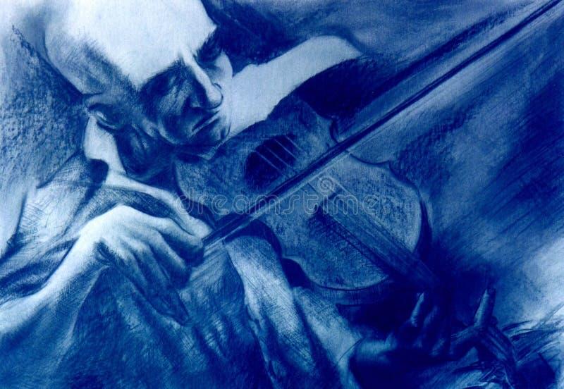 Professeur de violon illustration stock