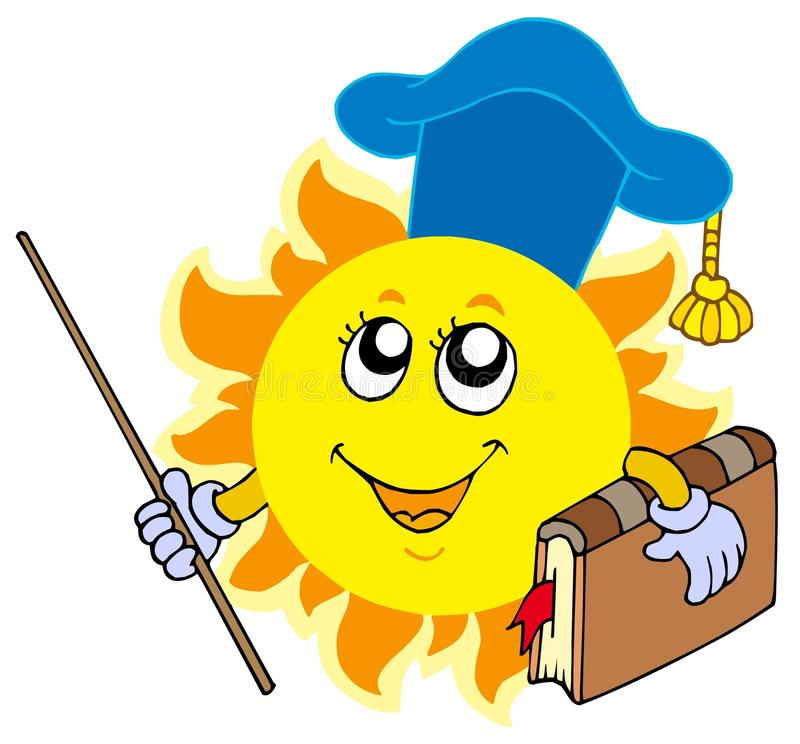 professeur du soleil illustration libre de droits