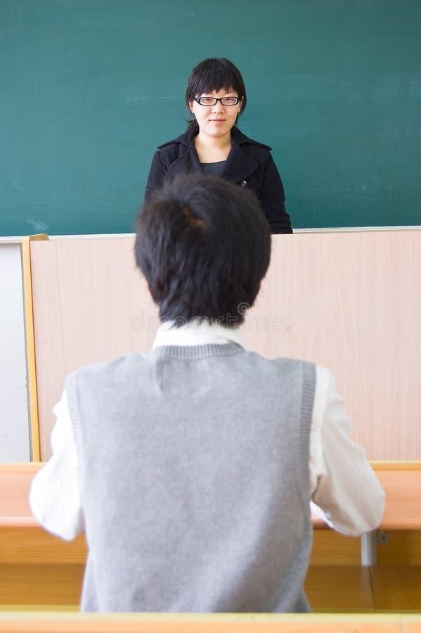 Download Professeur et étudiant image stock. Image du femmes, transmission - 8656505