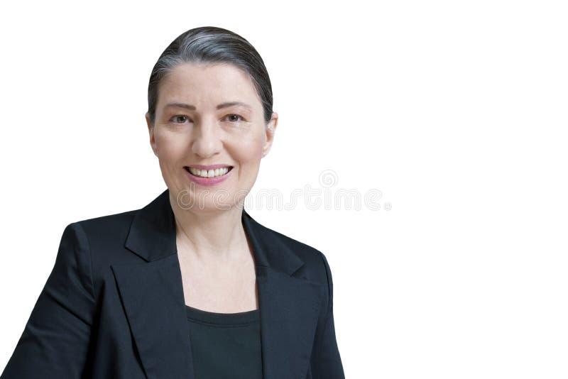 Professeur féminin d'isolement de mandataire d'avocat images stock