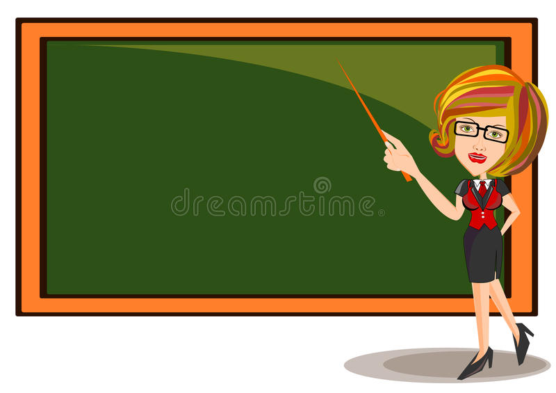 Professeur Female illustration stock