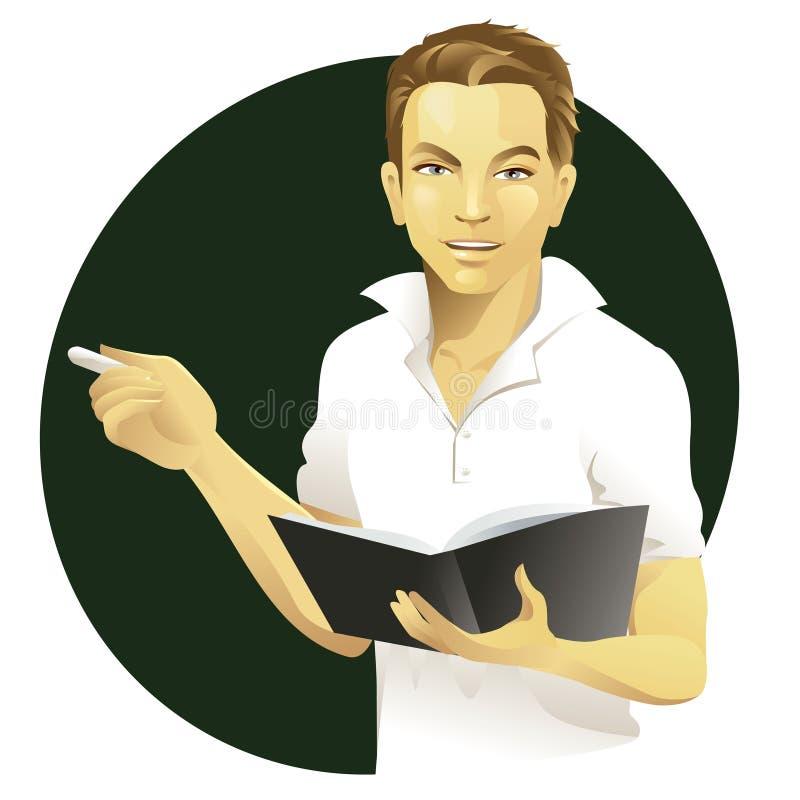 Professeur mâle illustration stock