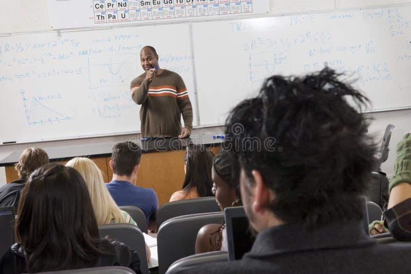 Professeur masculin Teaching Students images libres de droits