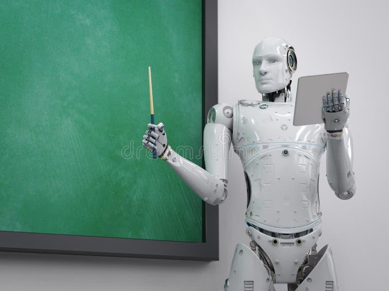 Professeur ou conférencier de cyborg illustration stock