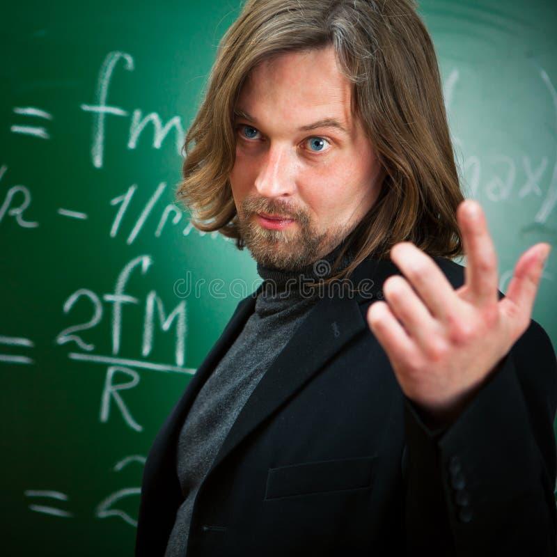Professeur parlant photos stock