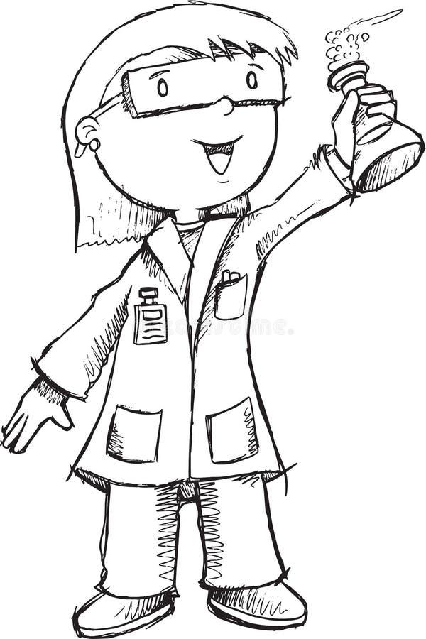 Professeur Vector de scientifique illustration stock