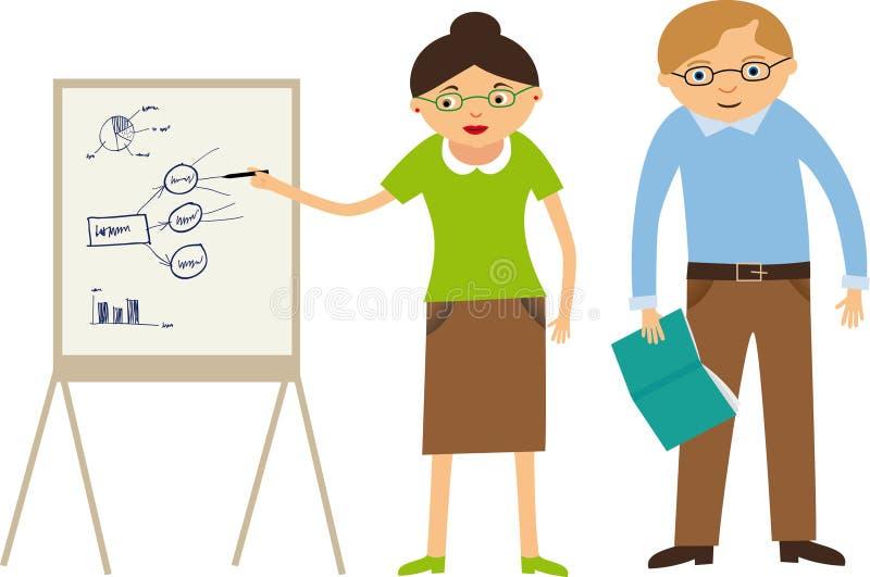 professeurs illustration de vecteur